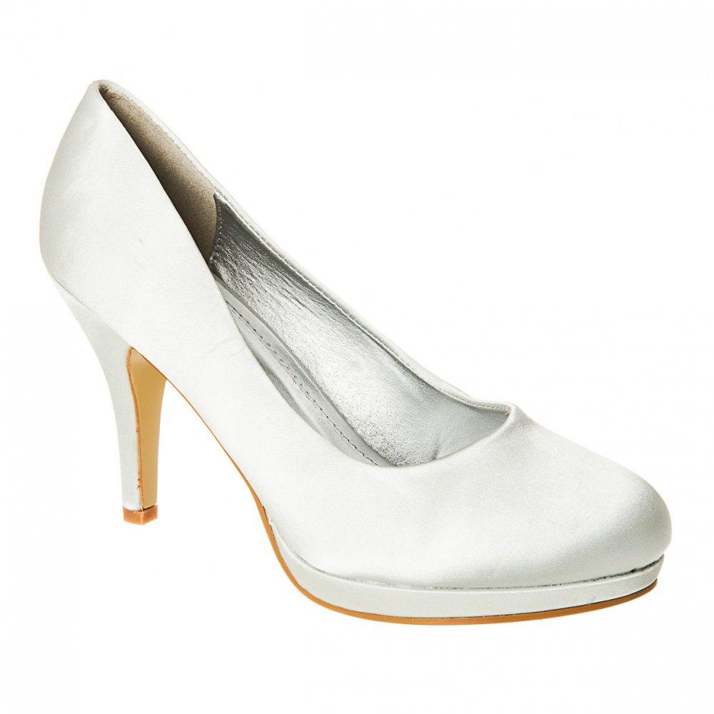 High Heel Low Platform Court Shoe
