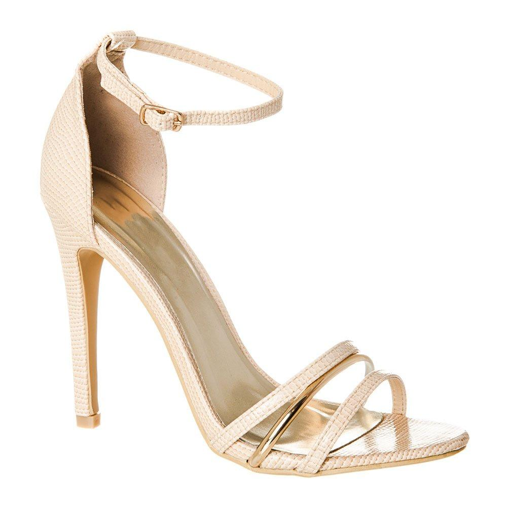 High Stiletto Heel Strappy Ankle Strap Sandal