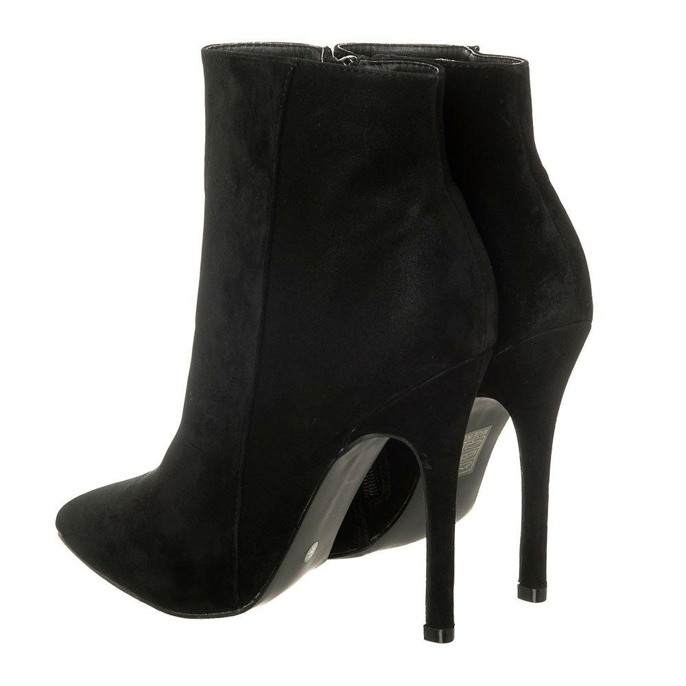 High Stiletto Heel Pointed Toe Zip Ankle Boot