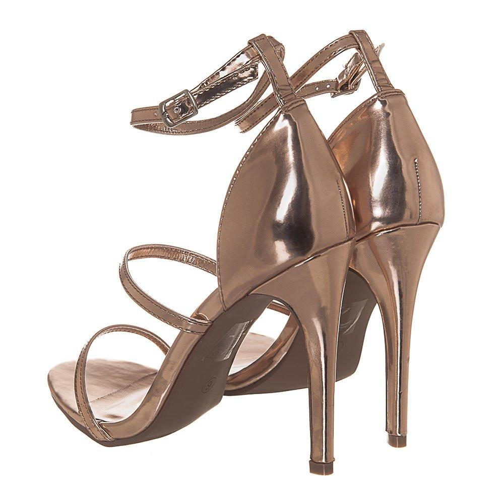 High Heel Ankle Strap Sandals With 2 Straps