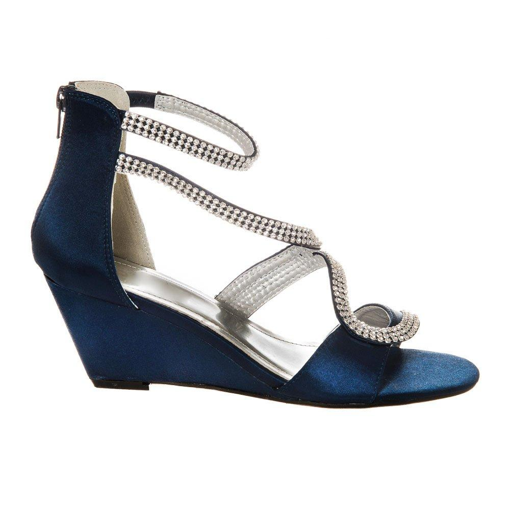 Medium Wedge Heel Open Toe Ankle Strap Sandal