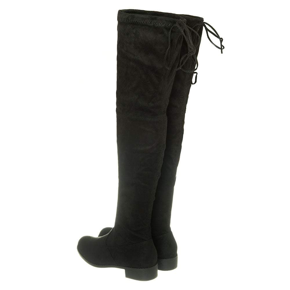 Low Overknee Tie Back Top Boot