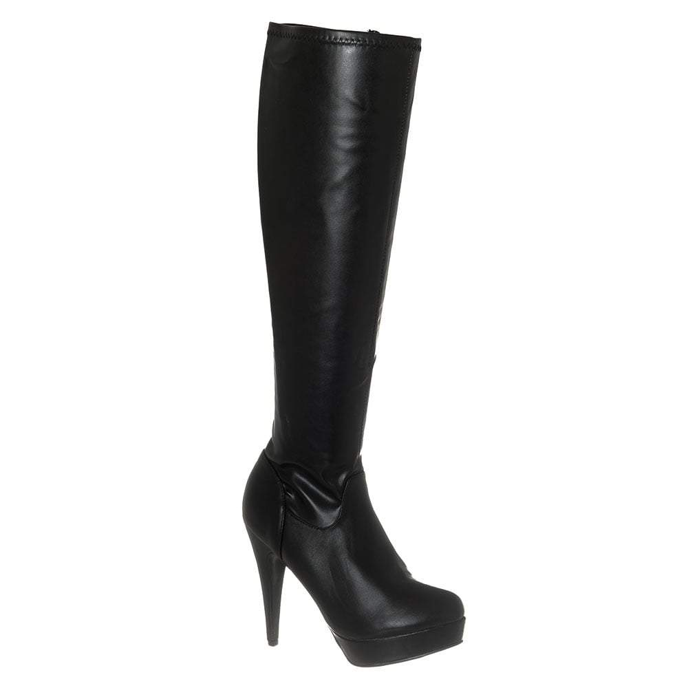High Stiletto Platform Knee High Boot