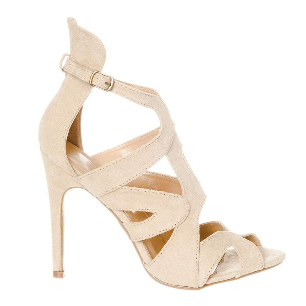 STRAPPY SANDAL WITH BACK COLLA