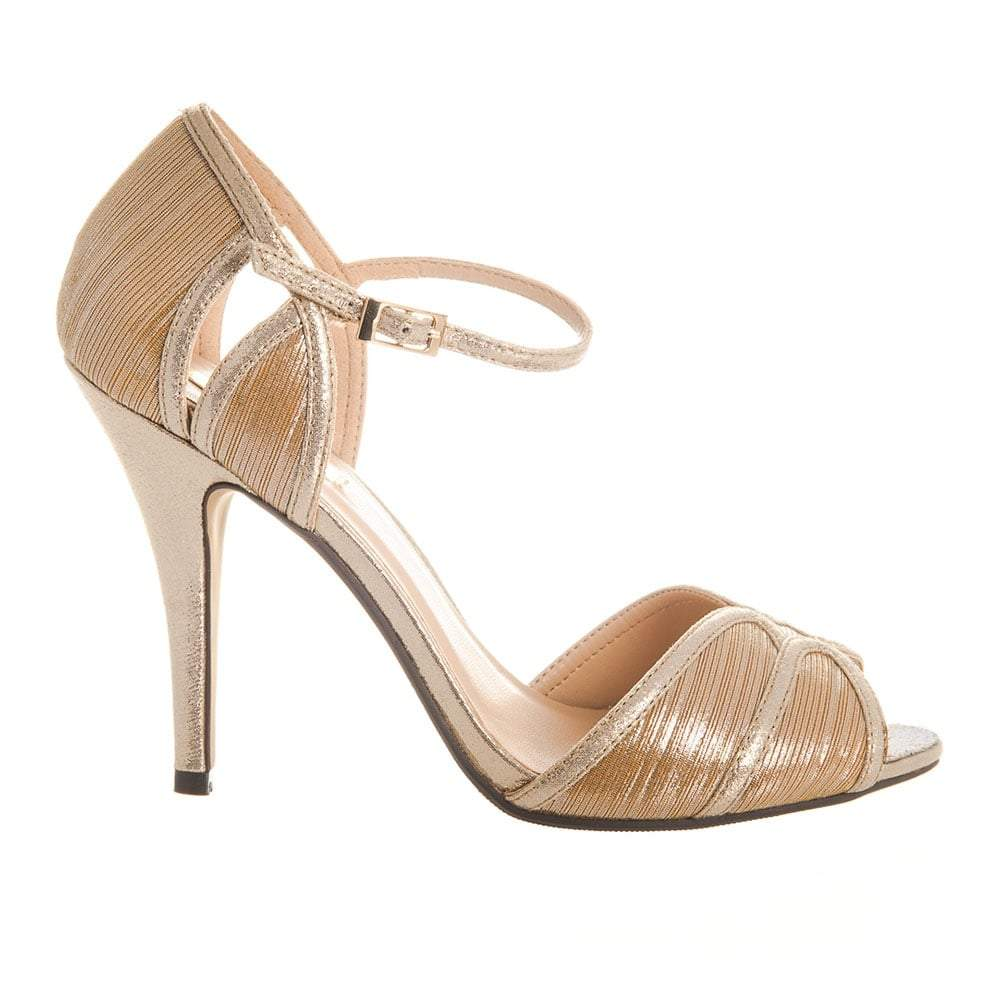 Open Toe Ankle Strap High Stiletto Heel.