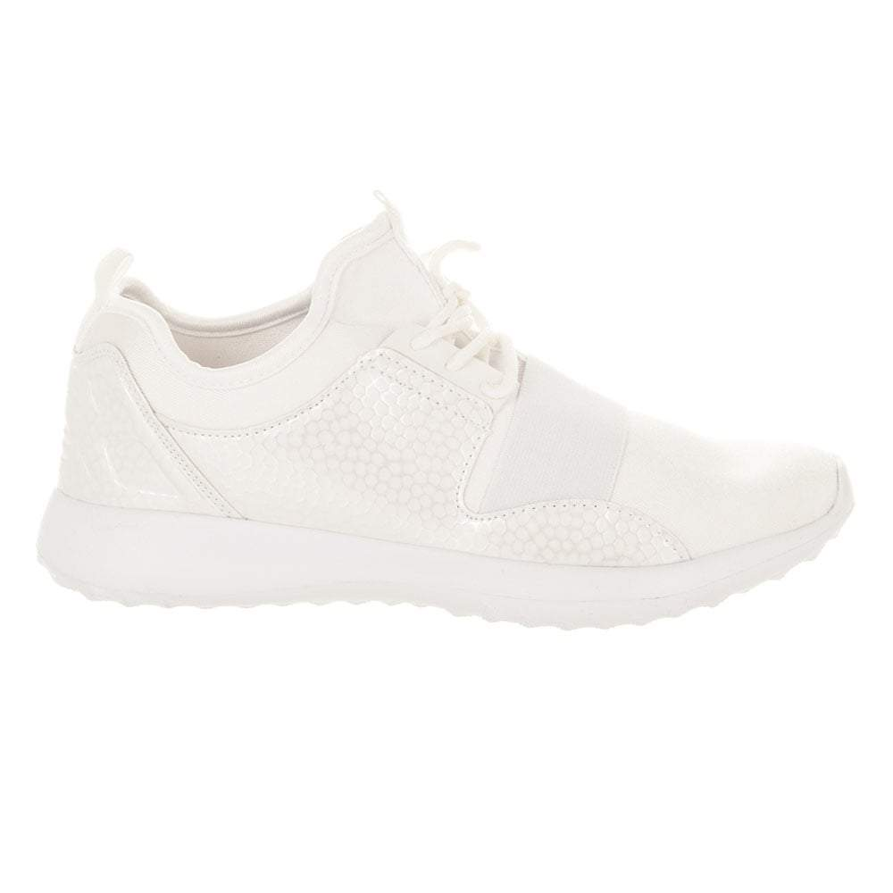 Lace Up White Sole Gym Running Trainer