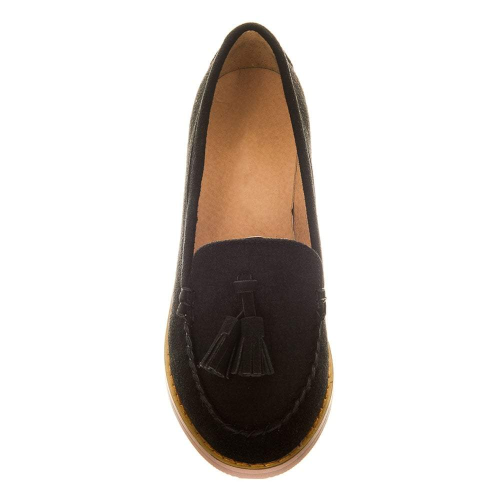 Flat Suede Toggled Loafer