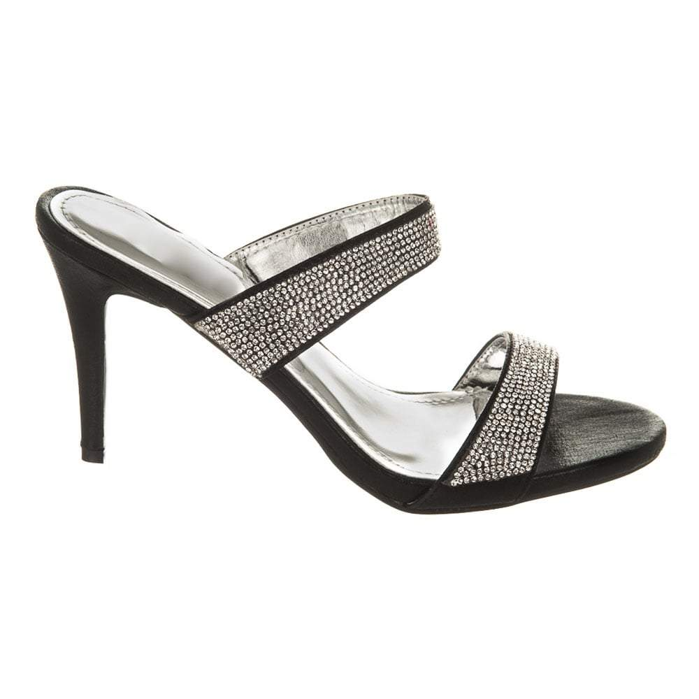 High Heel 2 Strap Open-Toe Mule Sandal
