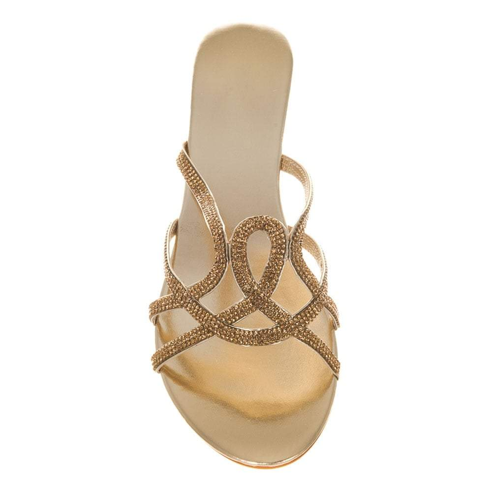 Low Wedge Strappy Dim Sandal