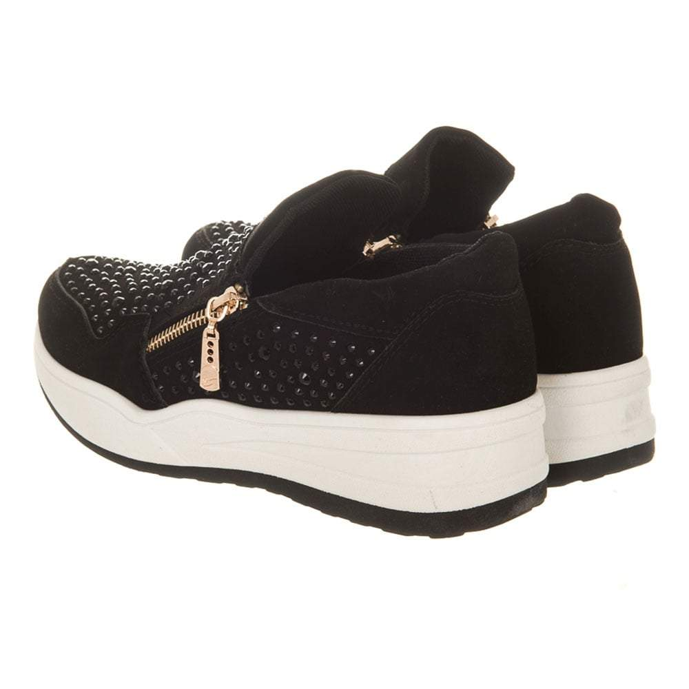 Twin Zip Diamante Running Shoes