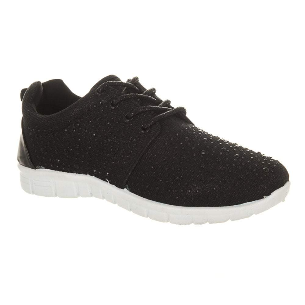 Lace Up Diamante Gym Lounge Trainer