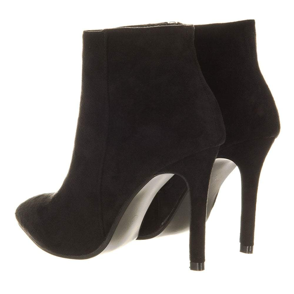 High Stiletto Heel Pointed Toe Ankle Boots