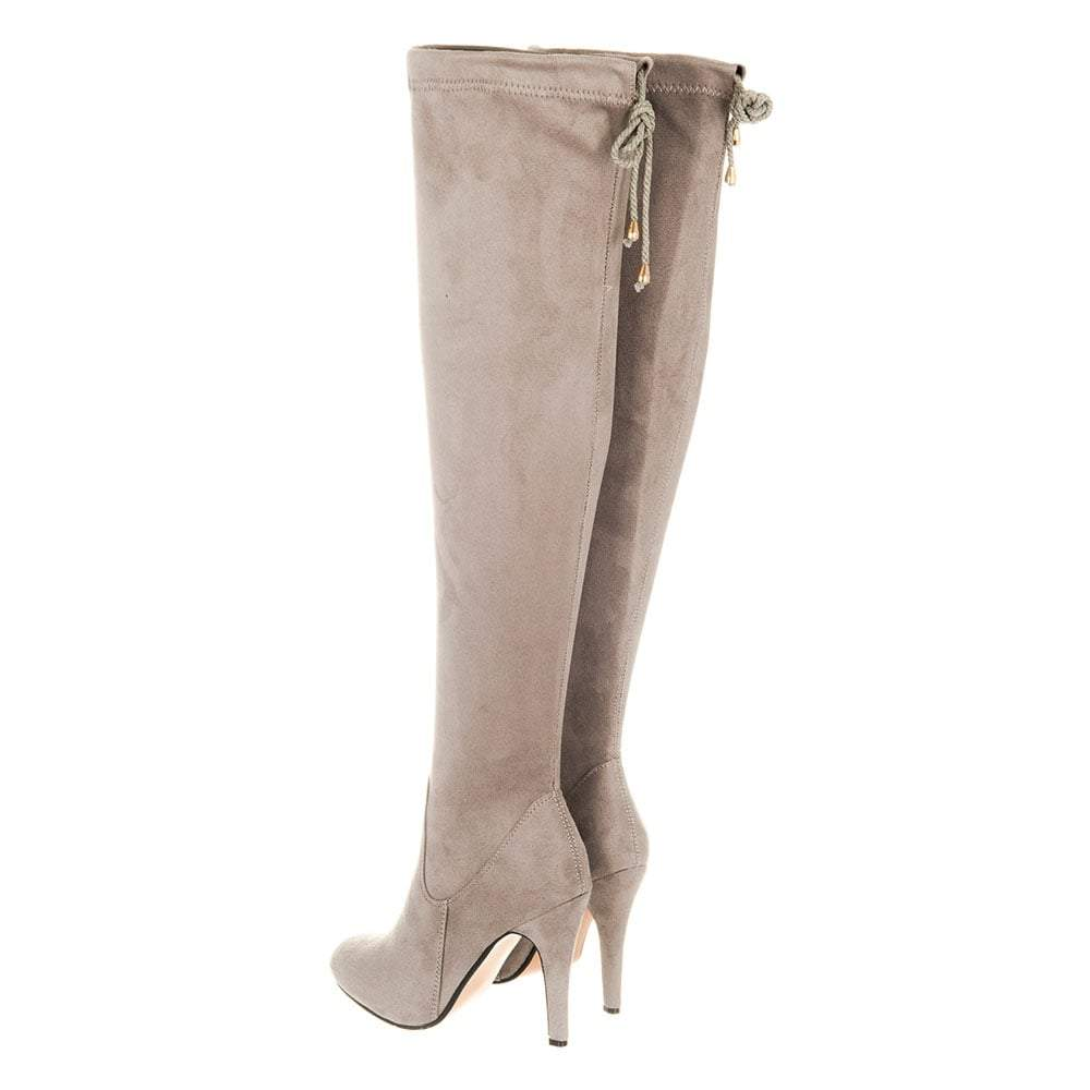 Ladies Medium Heel Stiletto Heel Over-Knee Boot