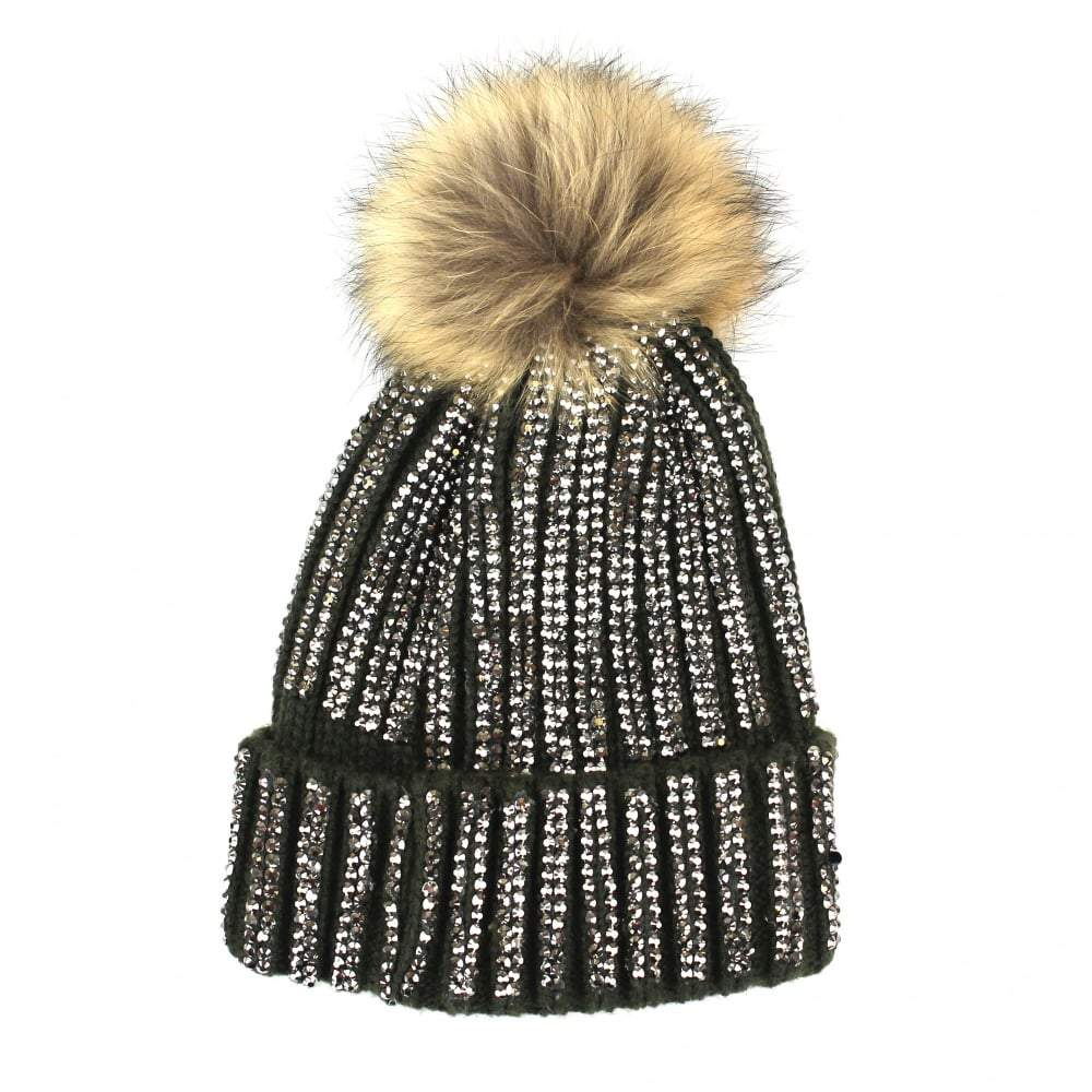 Diamante Hats With Racoon Fur