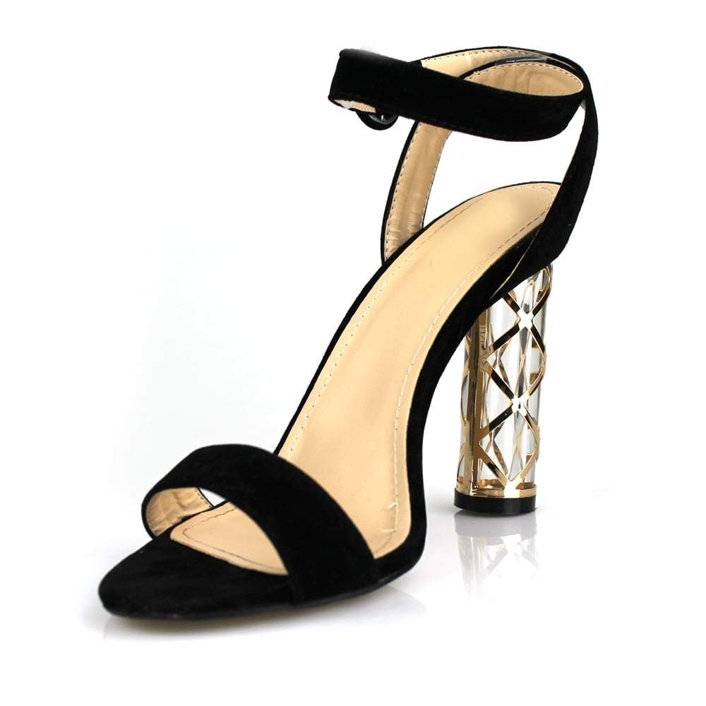 Twisted Perspex Heel Barley There Sandal