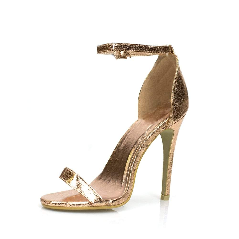 Annika High Stiletto Heel Open Toe Ankle Strap Sandal