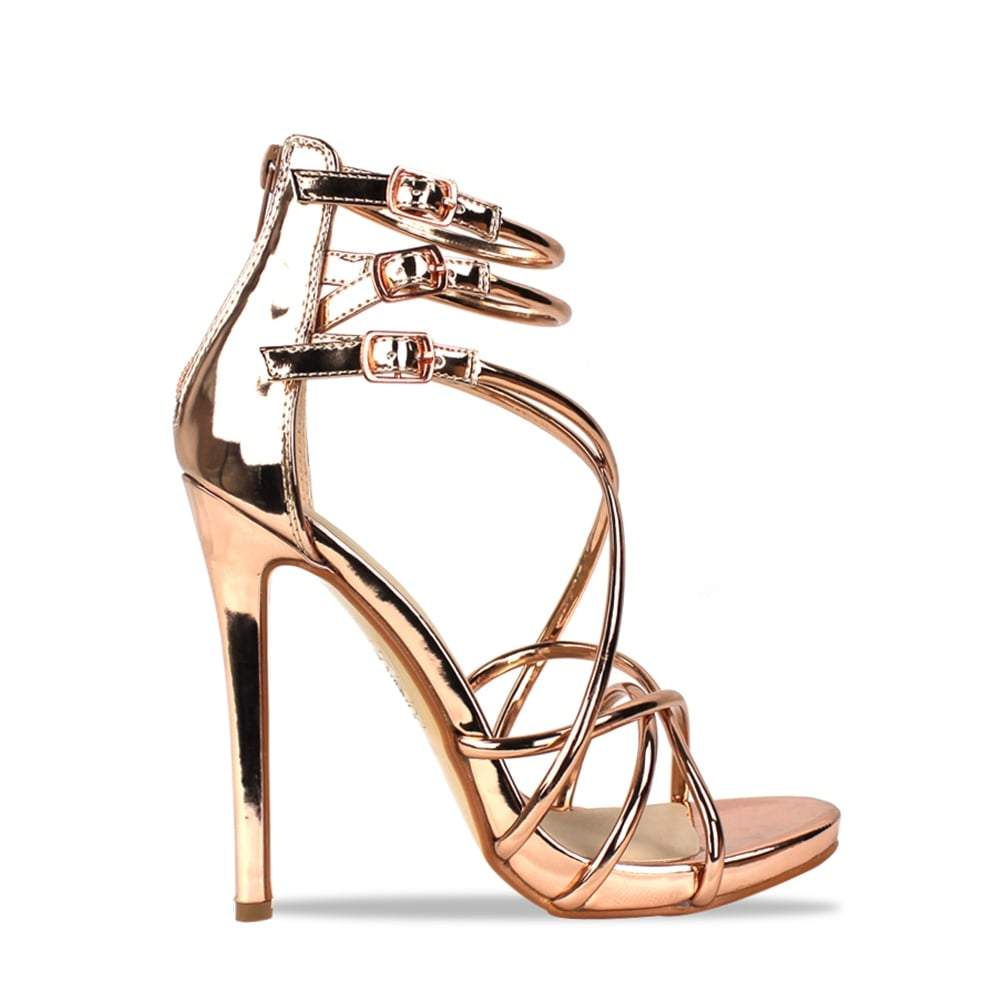 Rosa Strappy High Heel Sandal With Ankle Strap