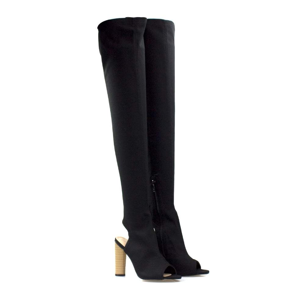 Over The Knee Open Toe & Back Boot