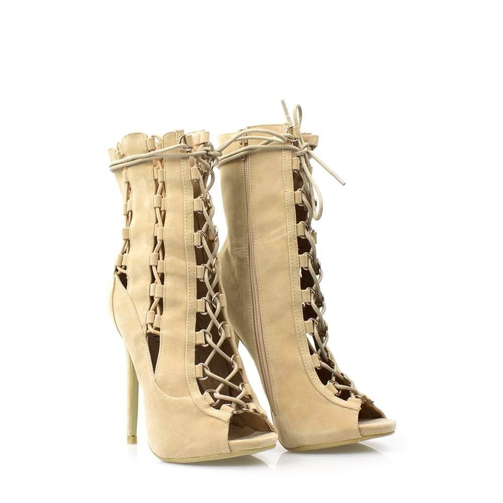 High Heel Ghillie Shoe Boot