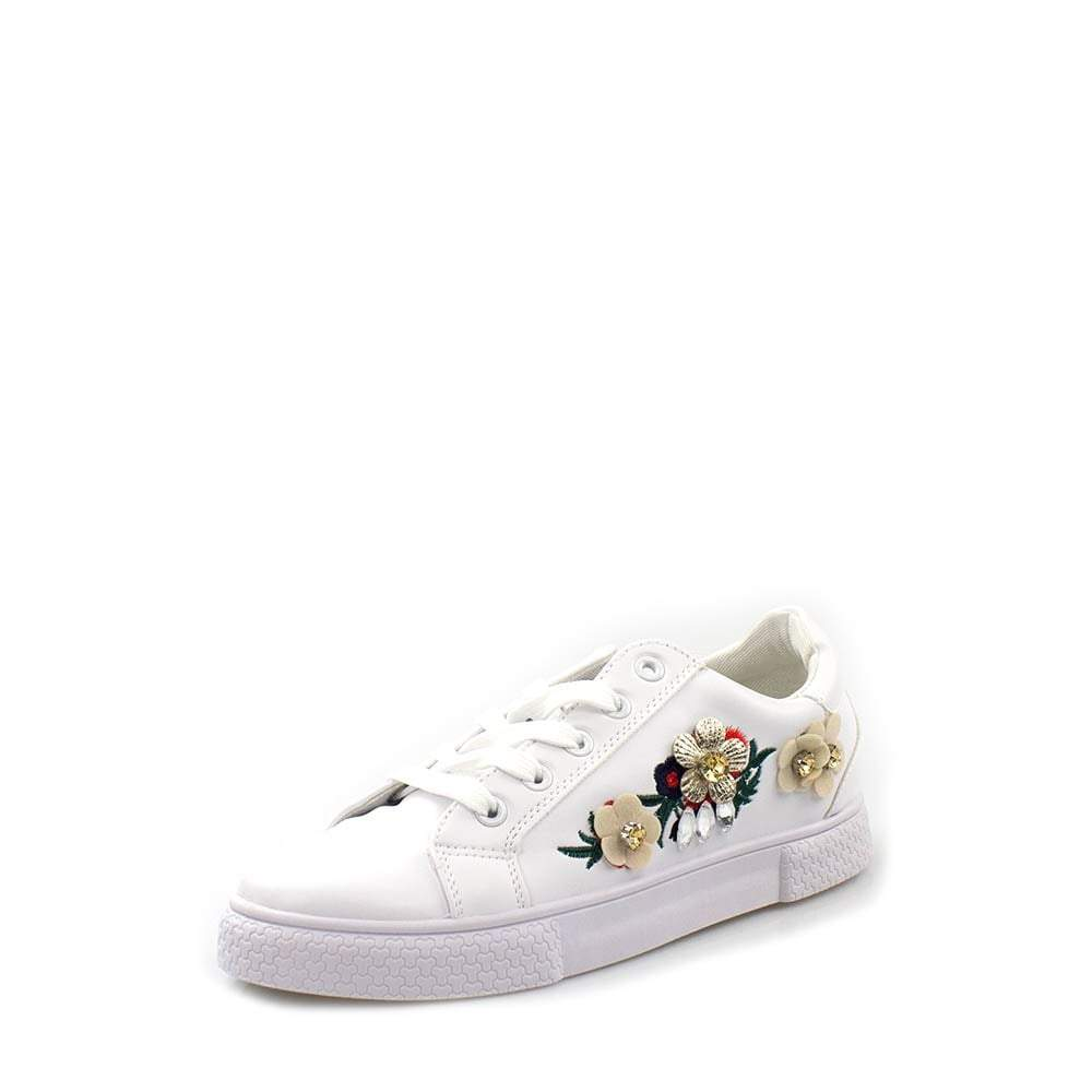 Floral Print Rubber Sole Lace Up Trainer