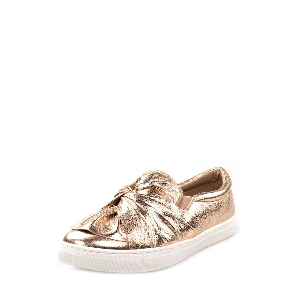 Claudia Flat Knot Metallic Pump