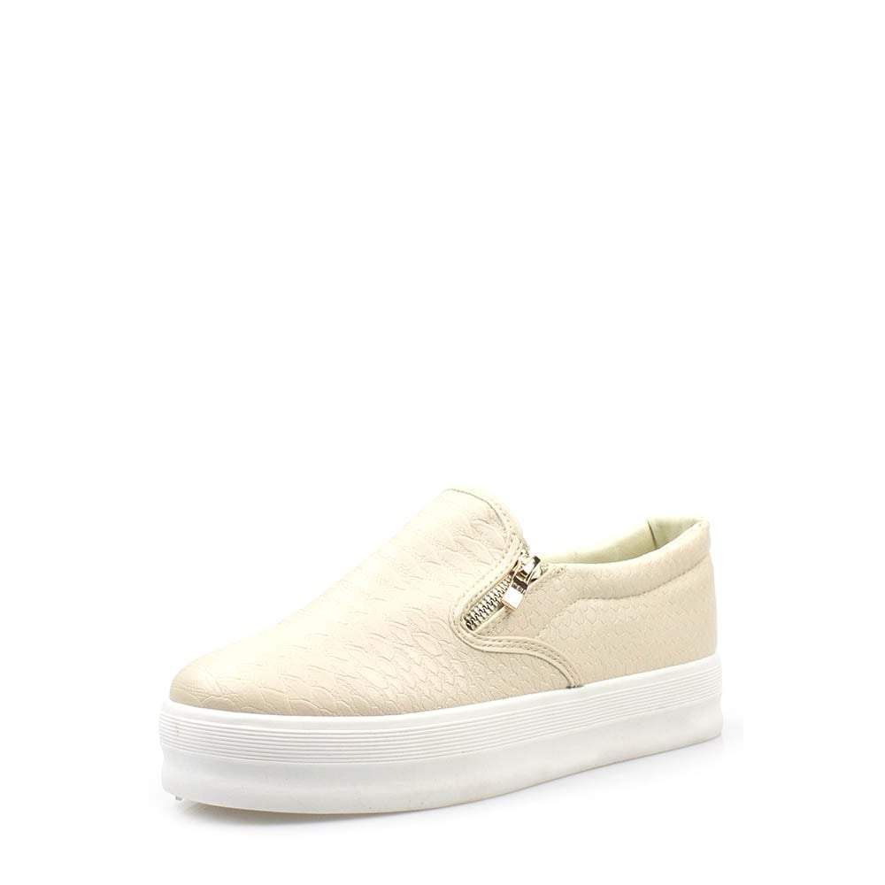 Flatform Skater Shoe With Side Zip