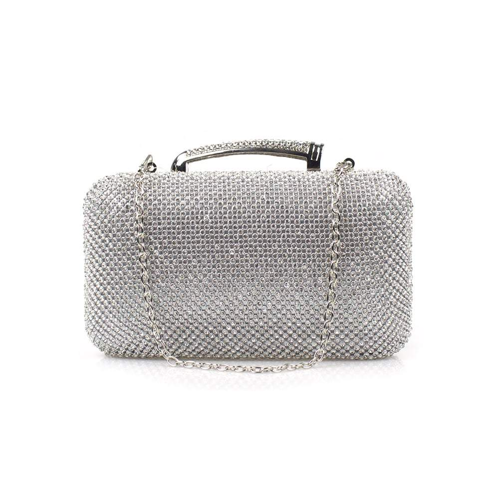 Silvermist Diamante Clutch Bag