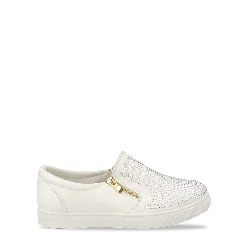 Sona Diamante Side Zip Skater Shoe