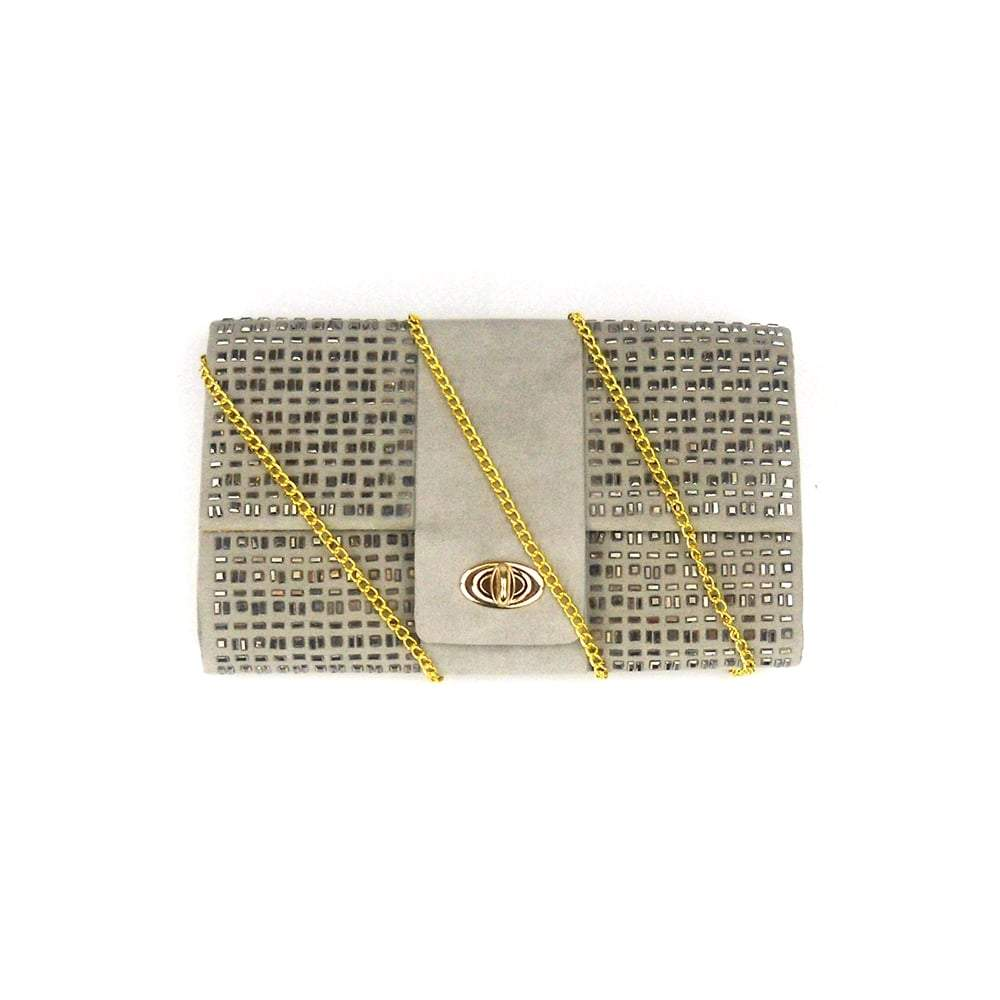 Melanie Satin Clutch Bag