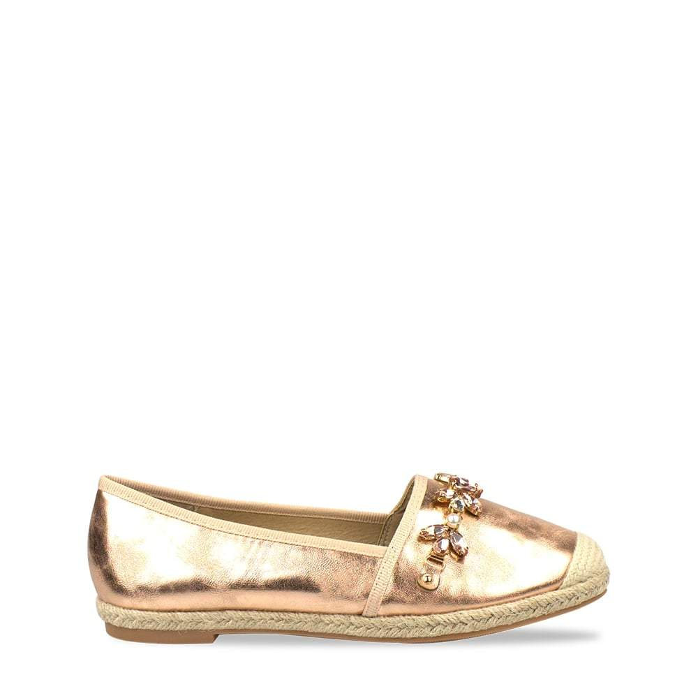 Tori Espadrille Metallic With Gems