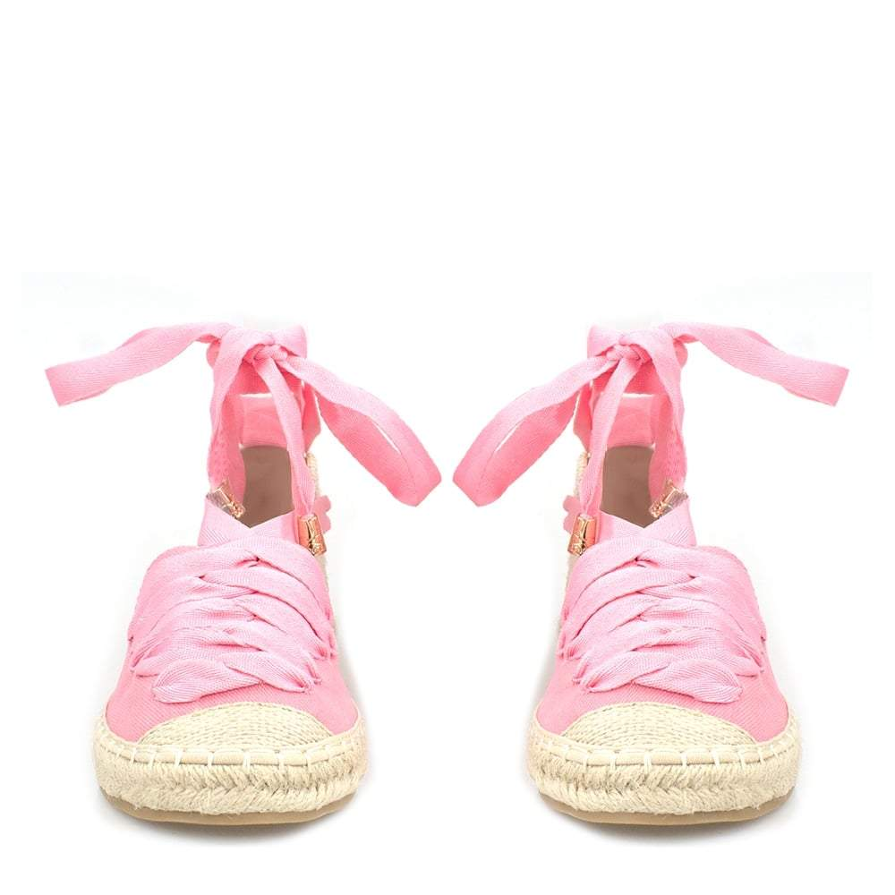 Larissa Ribbon Lace Up Espadrille