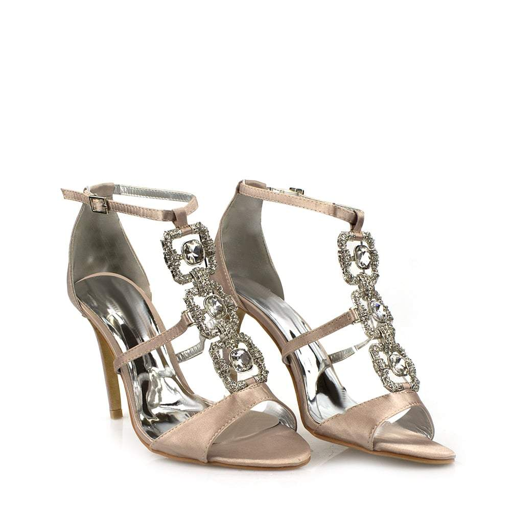 Perla T-Bar Diamante Sandal