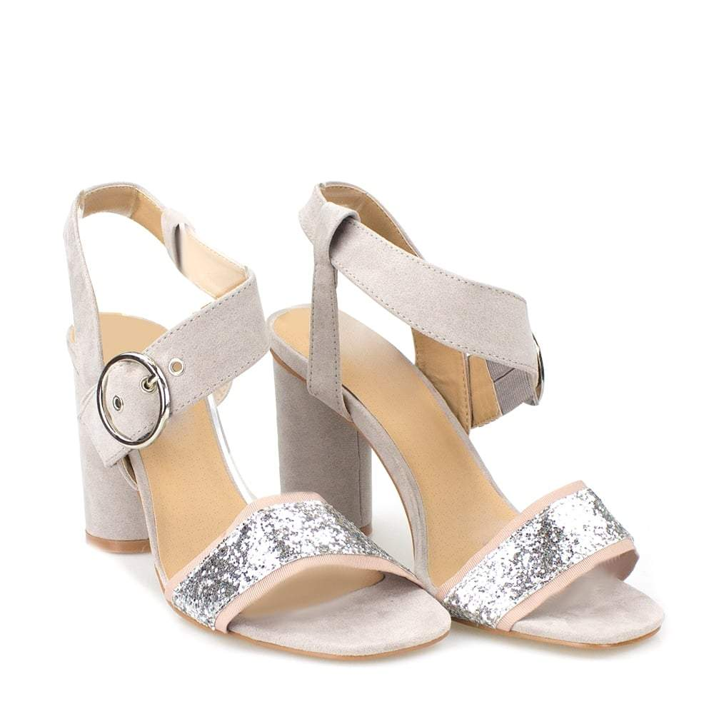 Becky Block Heel With Large Buckle