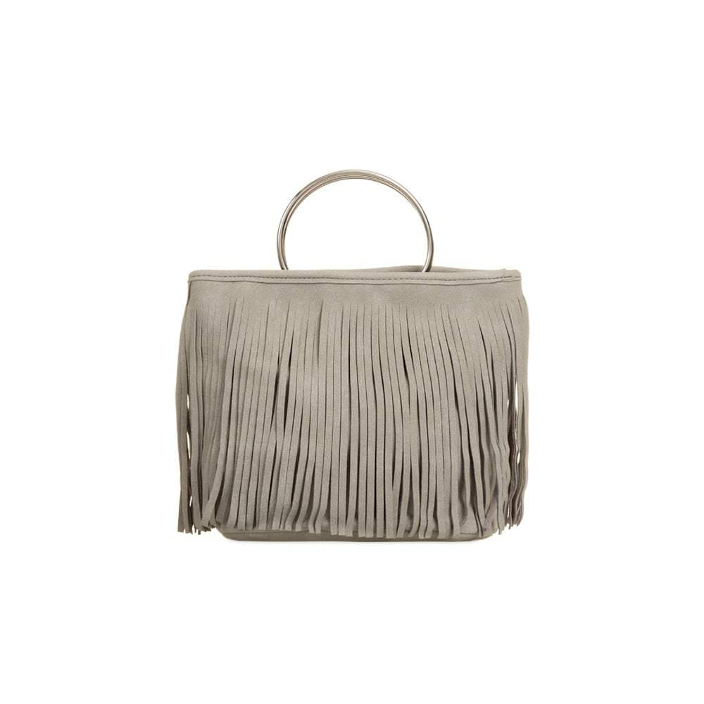 Fringed With Metal Handle