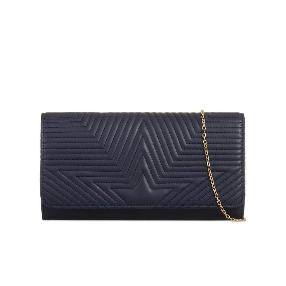 Star Quilted Evening Clutch With Chain Strap