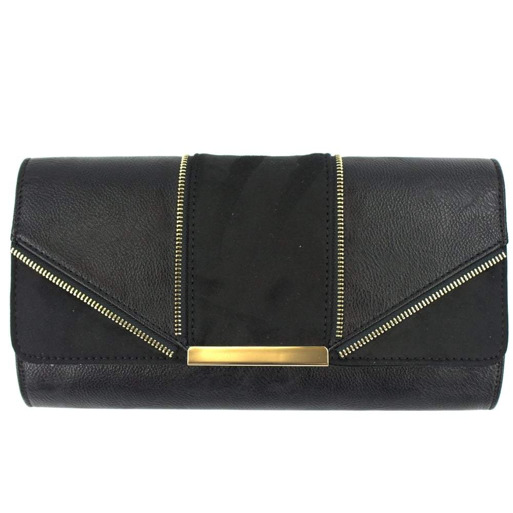 GOLD TRIM CLUTHCH BAG