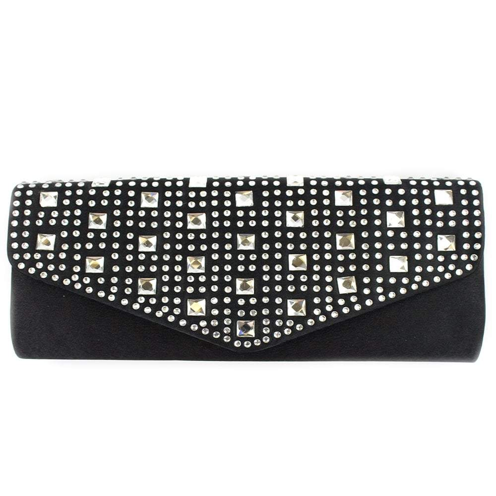 EVENING SATIN CLUTCH BAG