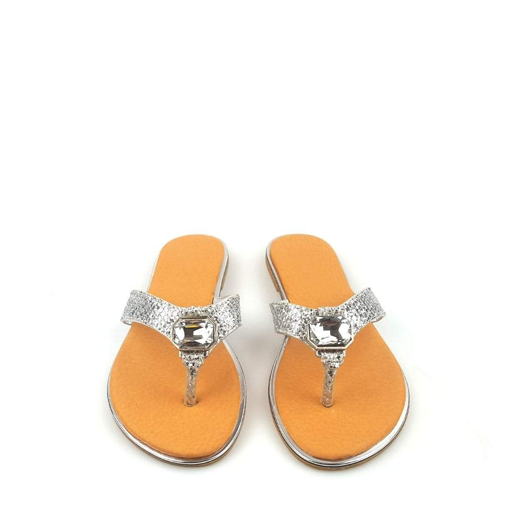 Hollie Toe Post Sandal Large Jewel