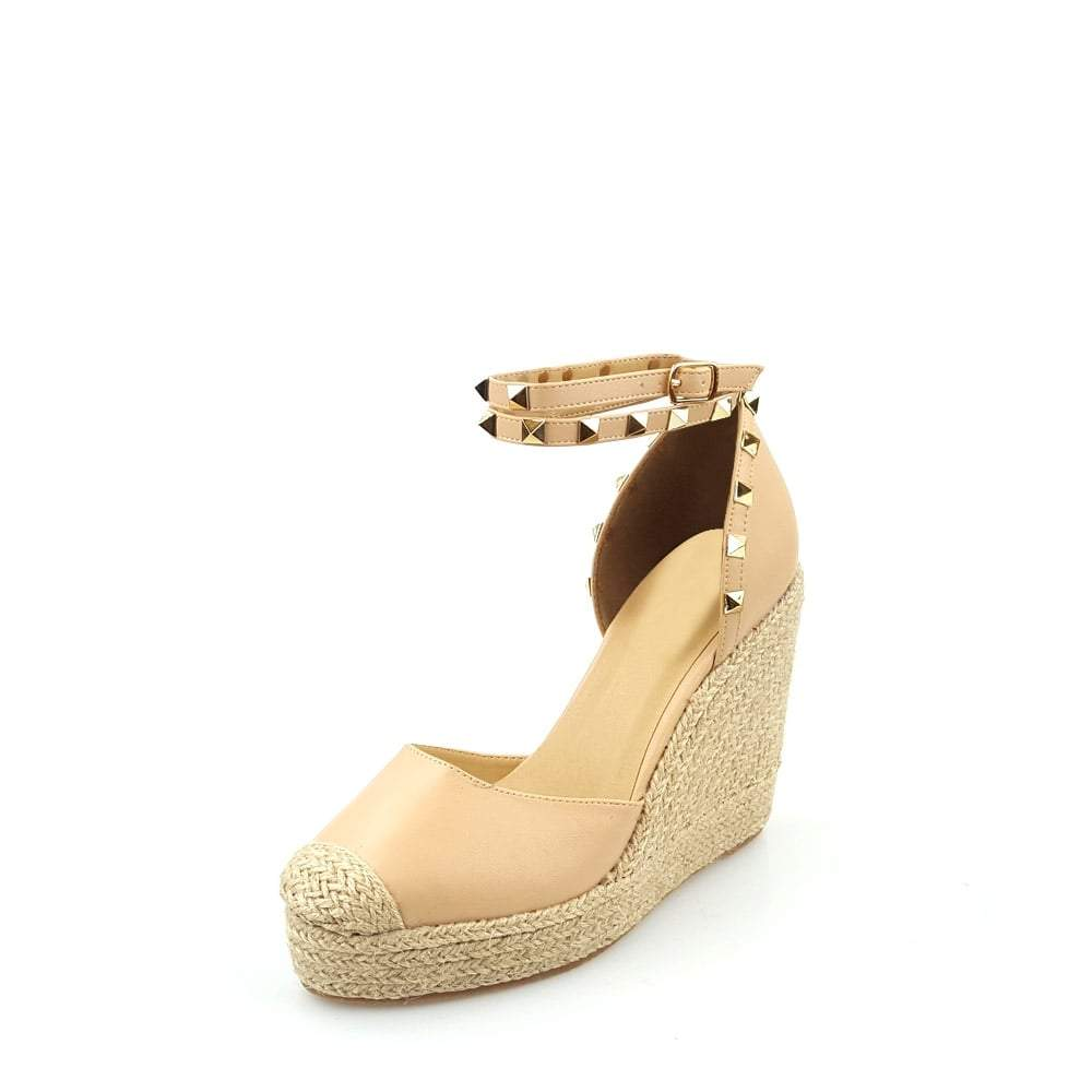 Mahira Studded Anklestrap Wedge