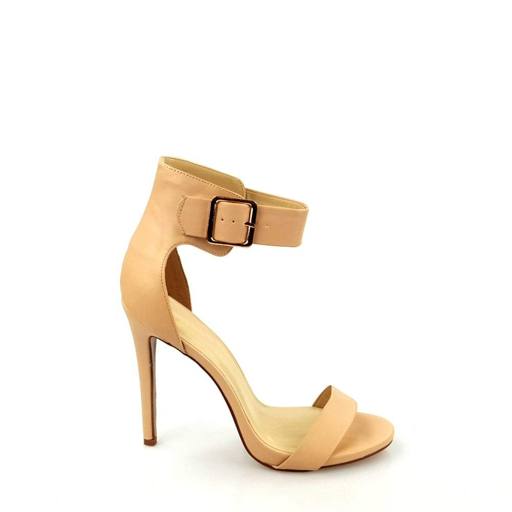 High Stiletto Heel Ankle Strap Peep Toe Sandal