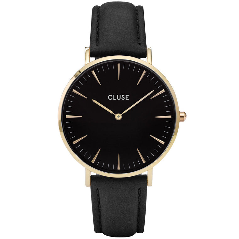 Cluse La Boheme Ladies Black Leather Watch - CL18401