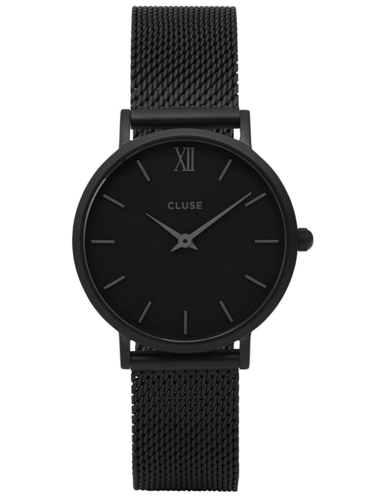 Cluse CL30011 Ladies Black-Ion Plated Stainless Steel Mesh Quartz Watch