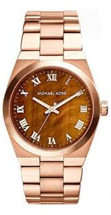 Michael Kors Channing Rose Gold PVD & Tortoisehell Dial Ladies Watch MK5895