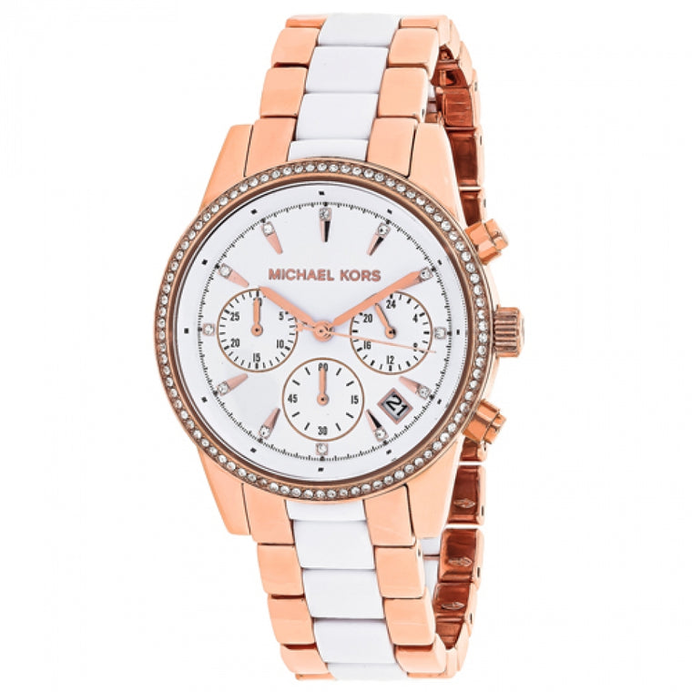Michael Kors MK6324 Ladies' Ritz Chronograph Stainless Steel Quartz Watch
