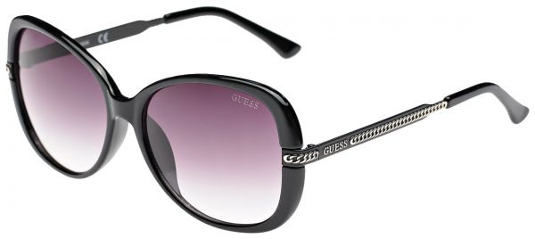 Guess Butterfly Women's Black/ Gradient Smoke Lens Sunglasses-  GU0253F 58C38