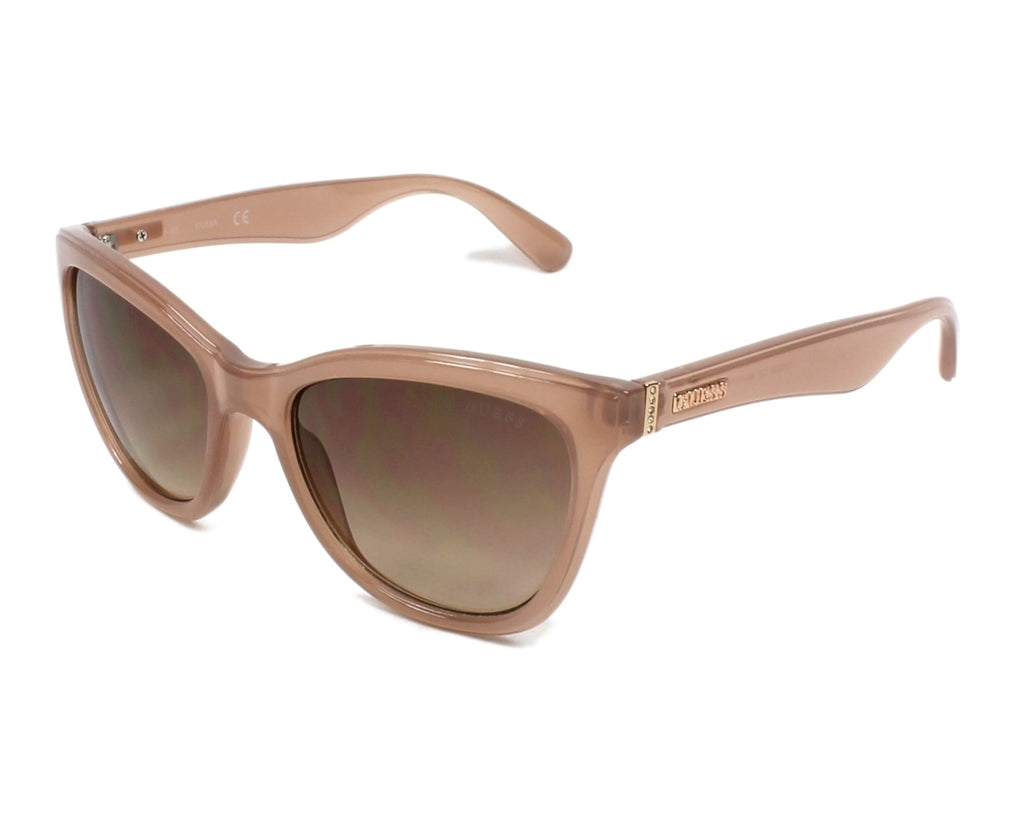 Guess Women's Transparent Beige Frame and Brown Gradient Lens Sunglasses-  GF0296 5672F