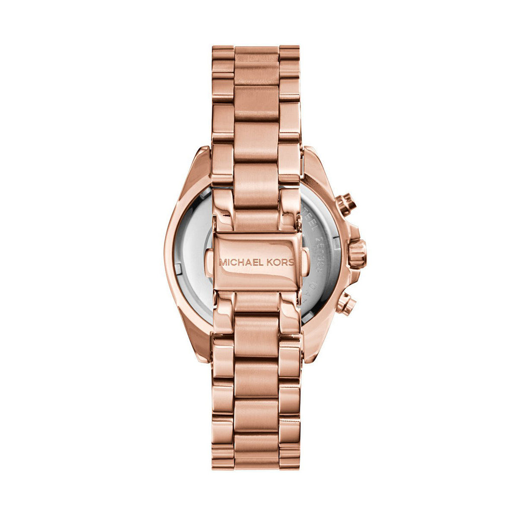 Michael Kors MK5799 Bradshaw Women's Chronograph Rose Dial Rose Gold-tone Bracelet Quartz Watch