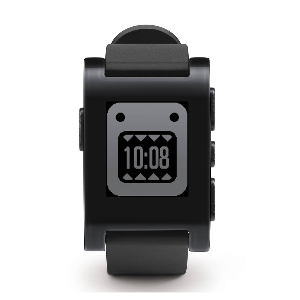 Pebble 301BL Black Rubber Strap Black Case Smartwatch