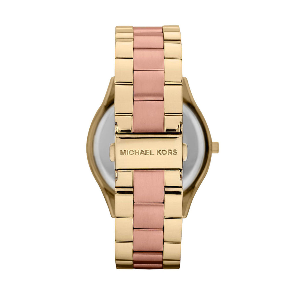 Michael Kors MK3493 Ladies Slim Runway PVD Gold plated Case Quartz Watch