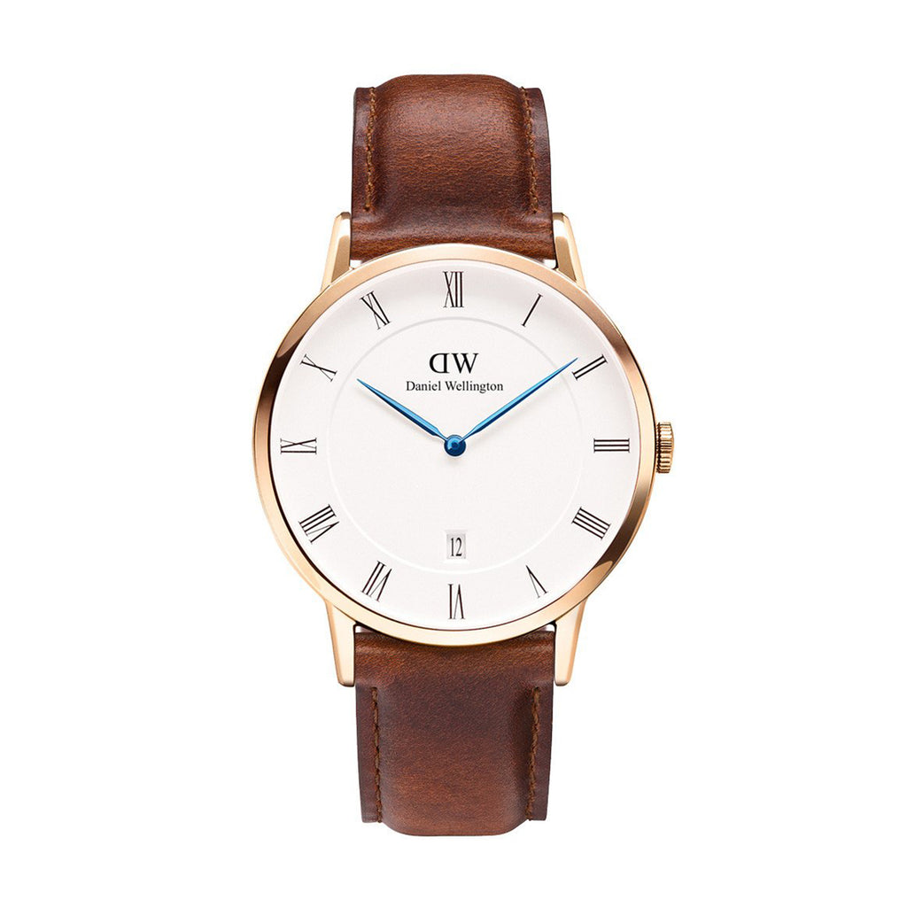 Daniel Wellington 1100DW Mens's Dapper St Mawes White Dial PVD Rose Plating Case Watch